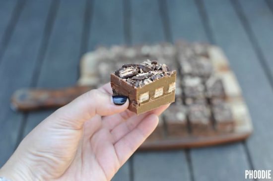 kit kat fudge slice recipe