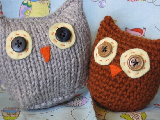 knit owls pattern