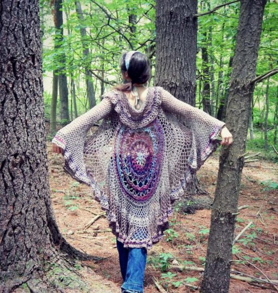Crochet Mandala Vest Free Pattern Video Instructions