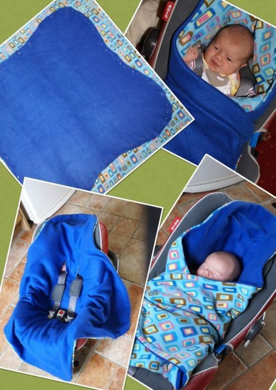 How To Make A Car Seat Canopy Without Sewing