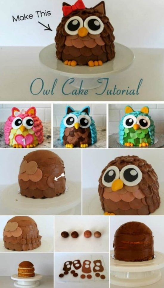 3D Owl Cake Recipe Ideas Video The WHOot
