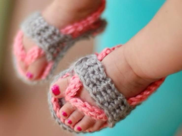 52a0184e40af2 Crochet Baby Sandals Patterns Cutest Ideas | The WHOot
