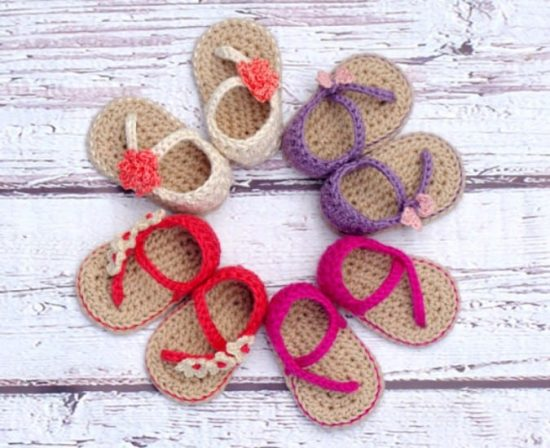 Crochet Baby Sandals Patterns Best Cutest Tutorials Extraordinary Crochet Baby Sandals Pattern