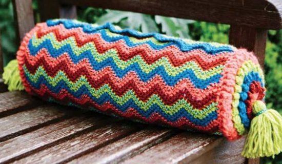 Crochet Bolster Cushion Pillow Patterns Ideas Inspiration