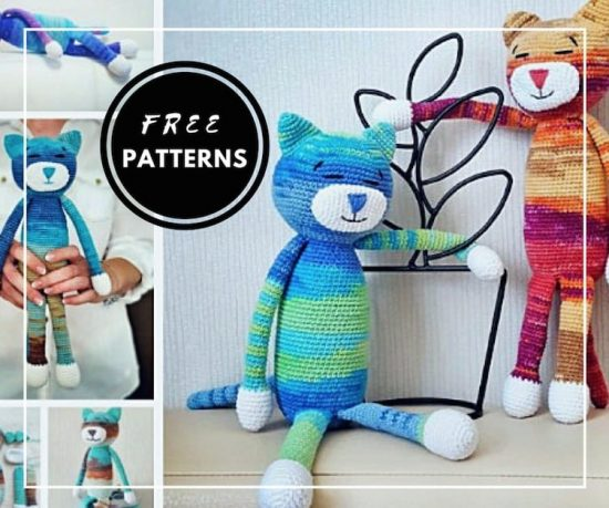 20 Free Crochet Cat Patterns – Crochet Cat Toys | Crochet cat ... | 459x550