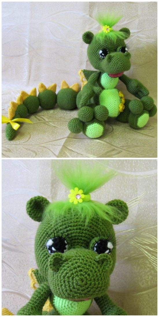 Amigurumi Crochet Pattern Spike the Dragon | Etsy | 1098x550