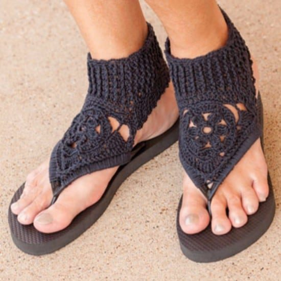 be10b4810d0fc6 Crochet Gladiator Sandals Patterns Womens Sizes