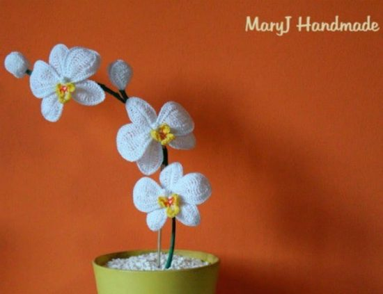 how to make a crochet orchid