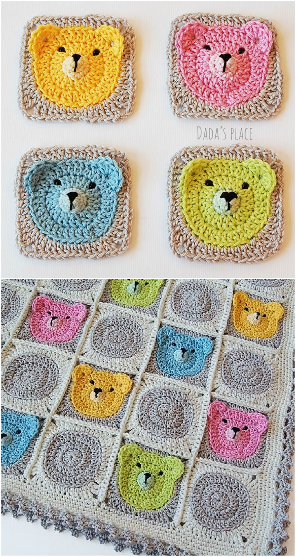 Sleep Tight Teddy Bear Blanket Pattern Crochet Pattern | 1117x593