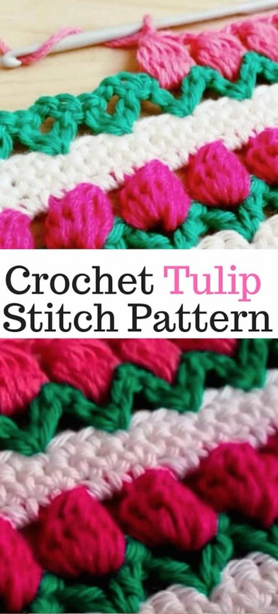 Crochet Tulip Stitch Video Youtube Instructions Free Pattern