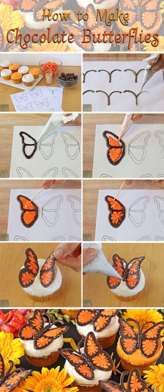 chocolate butterfly decorations tutorial
