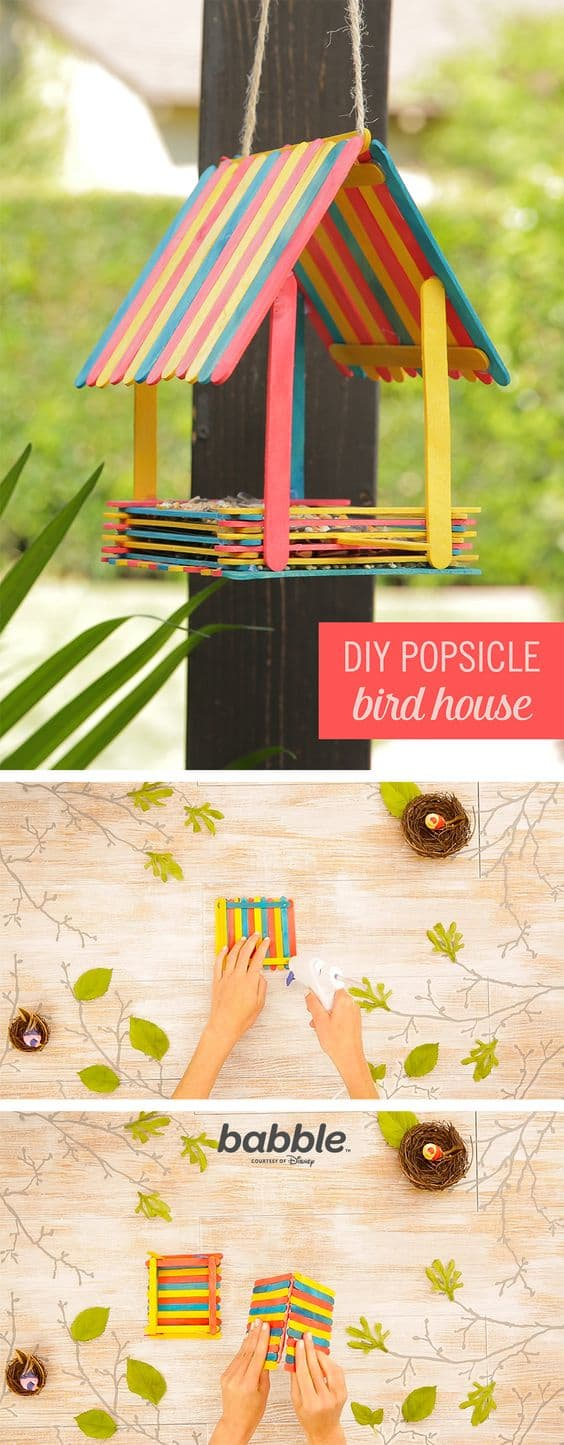 Learn How To Make Popsicle Stick Bird Feeders The Whoot