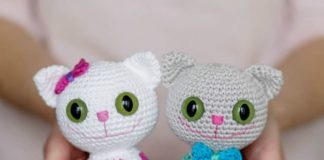 Crochet Cat in Hat Amigurumi Free Patterns (With images) | Crochet ... | 160x324