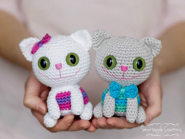 Crochet Dumpling Kitty [FREE Pattern + Video Tutorial] | 480x640