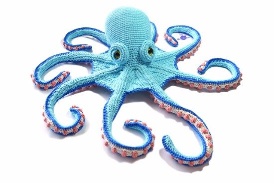 móhu — amigurumi octopus pattern This simple amigurumi... | 367x550