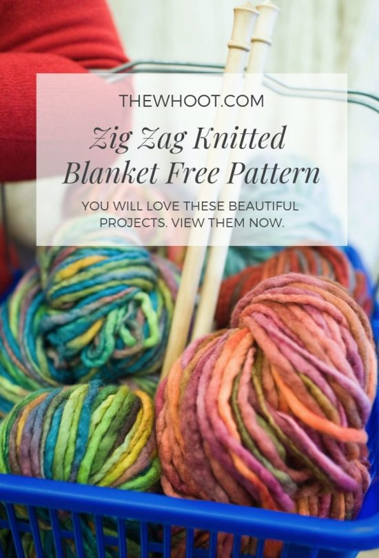 Zig Zag Knitted Blanket Free Pattern | The WHOot