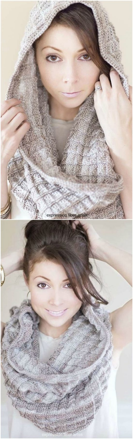 easy knit cowl free patterns