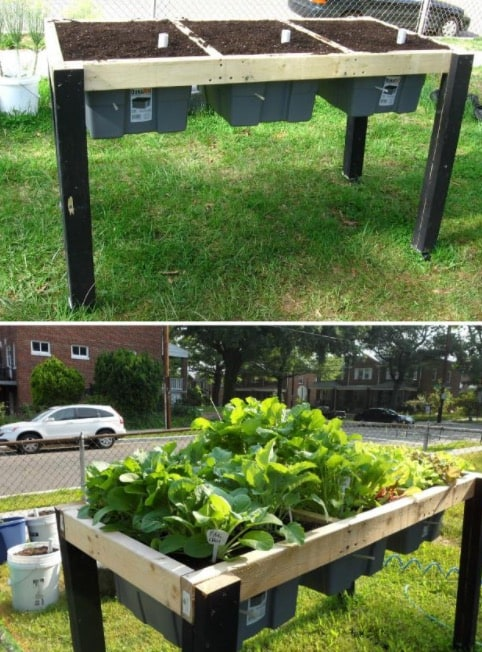 Self Watering Herb Garden Table Via Instructables Report