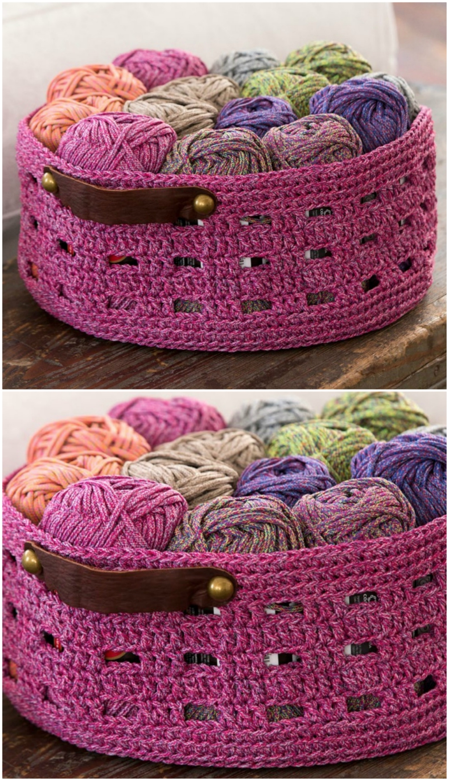 Crochet Storage Baskets Free Patterns | The WHOot