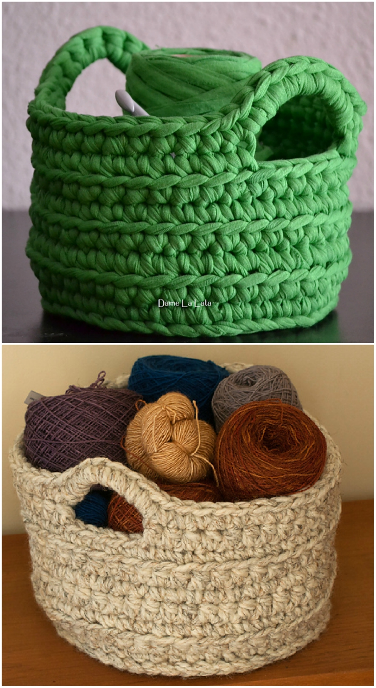 crochet storage baskets pattern
