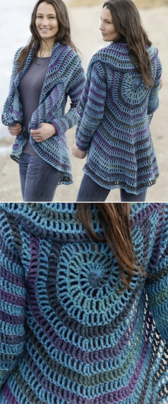 52334c349 Crochet Circular Jacket Pattern Free Pinterest Best Ideas