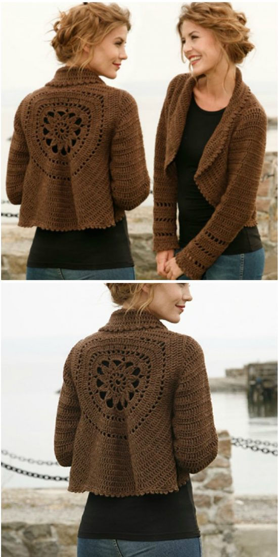 be279ac2b Crochet Circular Crop Cardigan Free Pattern. Crochet Circular Toddler Vest  Free Pattern Report