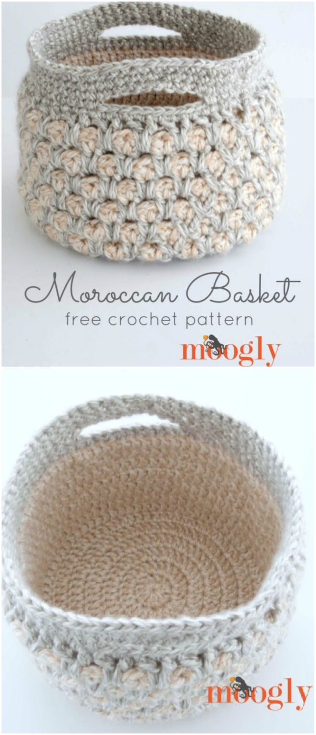 Crochet Storage Baskets Free Patterns The Whoot With Diagrams Moroccan Basket Pattern