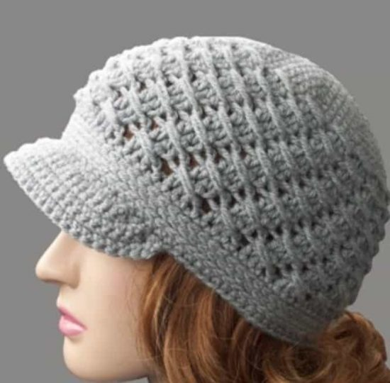 Crochet Newsboy Cap Free Pattern Easy Video Tutorial