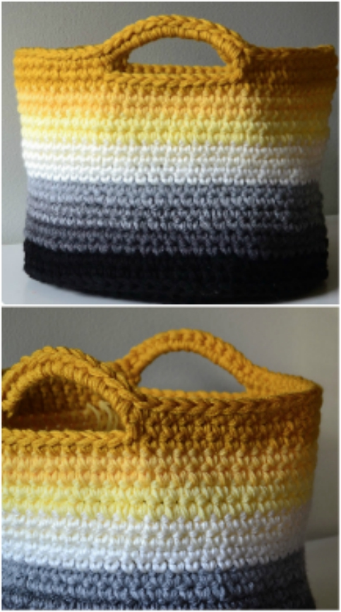 Crochet Storage Baskets Free Patterns The Whoot