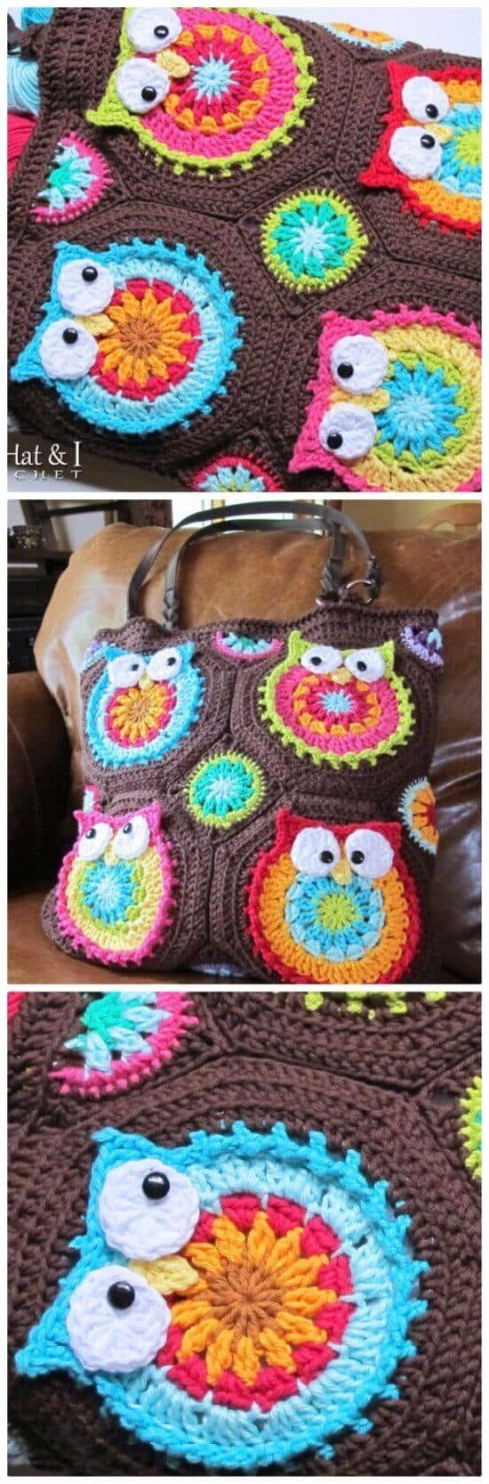 Crochet owl pattern bags super cute collection facebookpinterest bankloansurffo Image collections