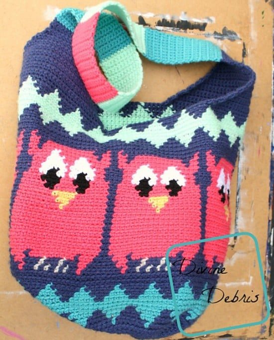 Crochet Owl Pattern Bags Super Cute Collection