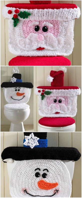 Swell Crochet Santa Toilet Seat Cover Pattern And Snowman The Whoot Spiritservingveterans Wood Chair Design Ideas Spiritservingveteransorg