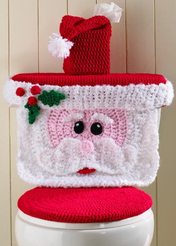 Phenomenal Crochet Santa Toilet Seat Cover Pattern And Snowman The Whoot Spiritservingveterans Wood Chair Design Ideas Spiritservingveteransorg