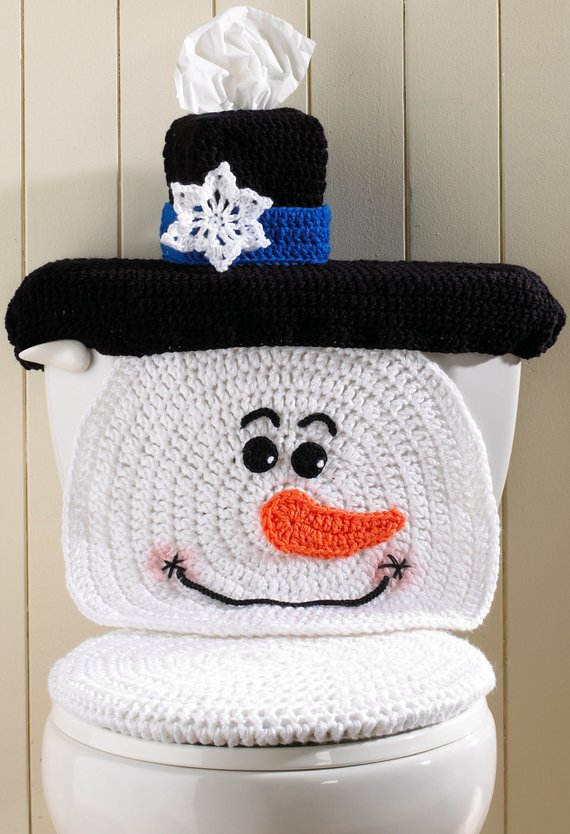 Groovy Crochet Santa Toilet Seat Cover Pattern And Snowman The Whoot Spiritservingveterans Wood Chair Design Ideas Spiritservingveteransorg