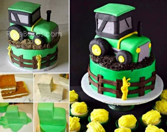 John Deere Tractor Cake Tutorial Easy Video Instructions