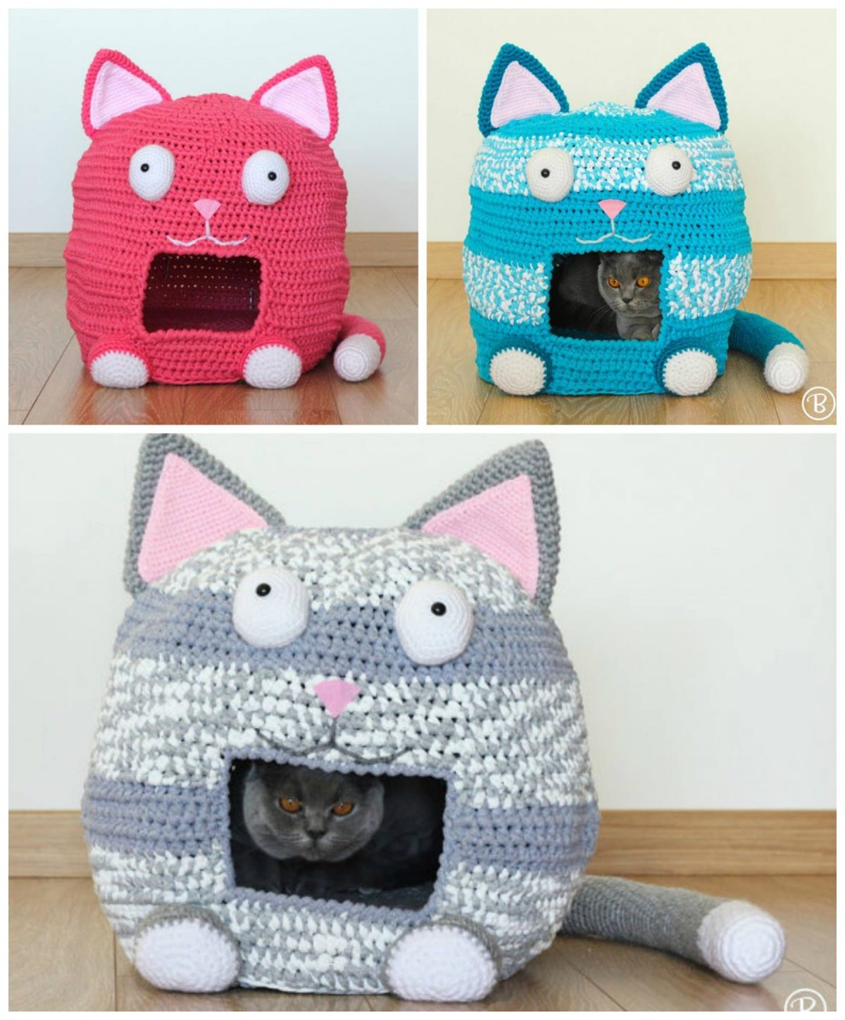 Pattern Crochet cat bed PDF tutorial with photo and pattern | Etsy | 1449x1200