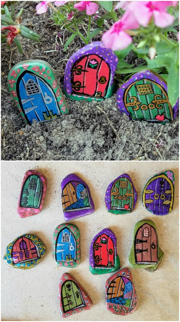 Painted Rock Fairy Houses Pinterest Top Pins The Whoot