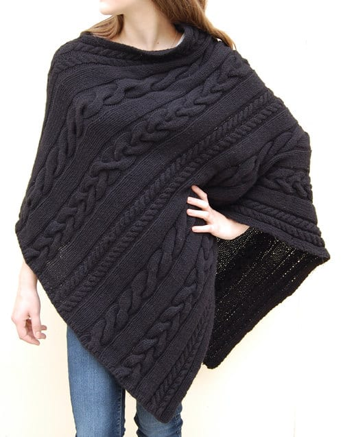 Knitting Poncho Easy : Knitted poncho patterns with video tutorial for beginners