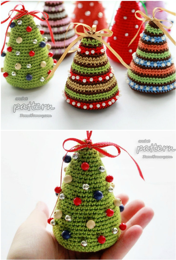 Free Christmas Amigurumi Patterns by Dendennis | Christmas crochet ... | 851x577