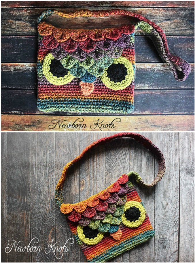 Crocodile Stitch Owl Purse Pattern Is Perfect Beginner Diy