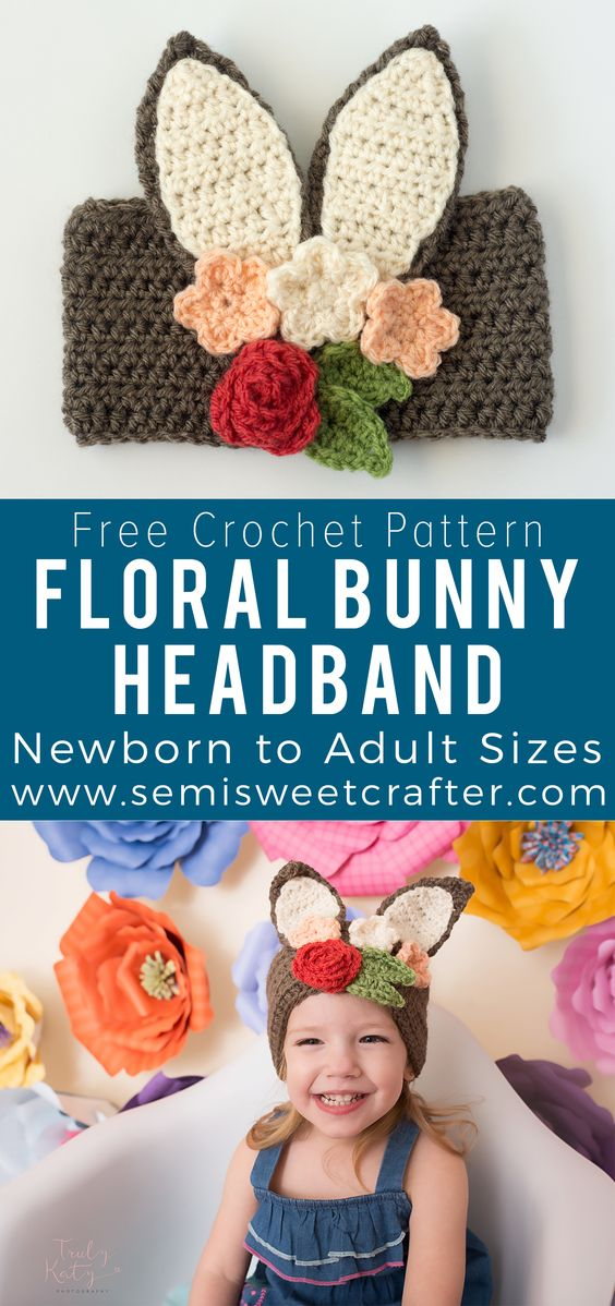 Crochet Baby Headband Patterns And Easy Video Tutorial