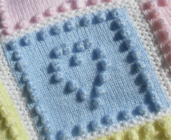 Knit heart squares baby blanket pattern is the sweetest via peach dt1010fo