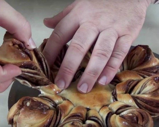 Nutella Braided Tear and Share Bread