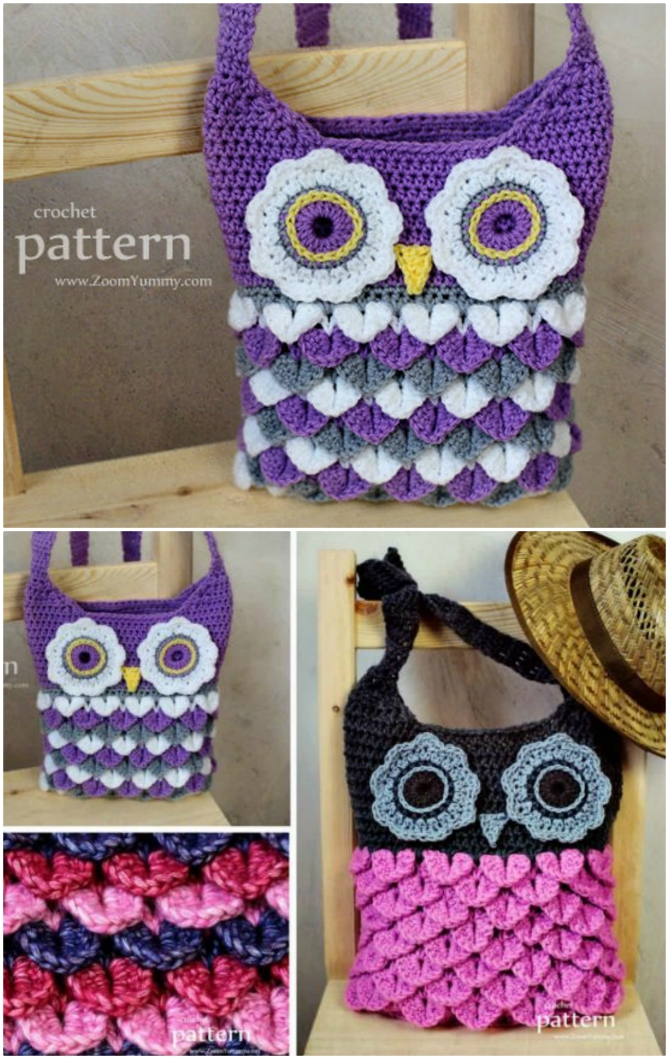 Outstanding Crochet Owl Pattern Bags Super Cute Collection Dailytribune Chair Design For Home Dailytribuneorg
