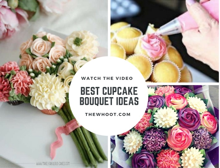 Cupcake Bouquet Tutorial With Video   The WHOot