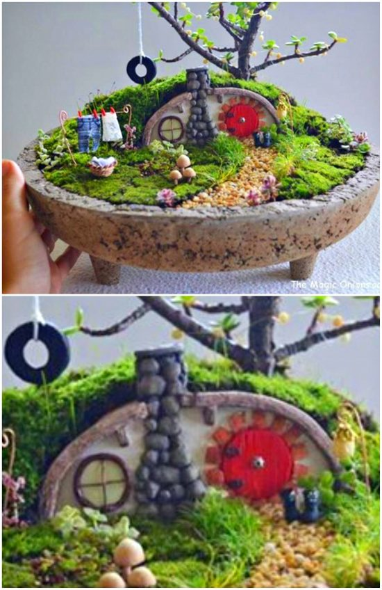 hobbit hole fairy garden