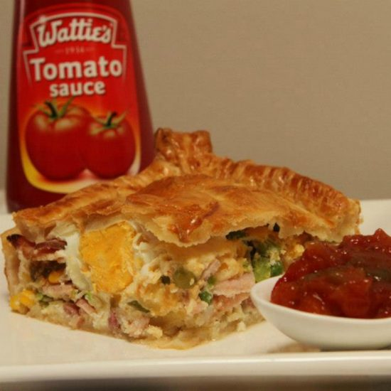bacon and egg pie puff pastry recipe