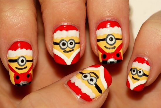This ... - Christmas Minion Nail Art Ideas You'll Love Video Tutorial