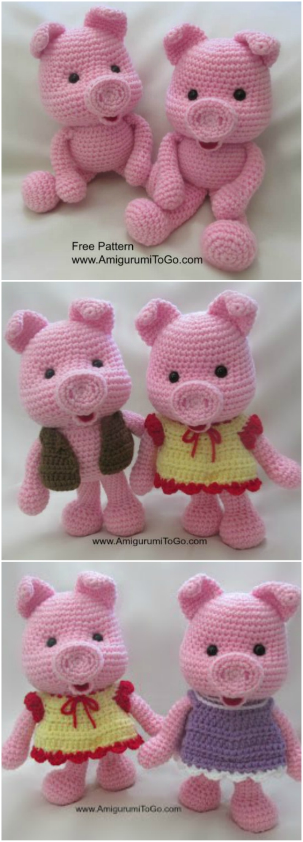 Ravelry: Piglet the Pig pattern by Holly's Hobbies | 1685x607