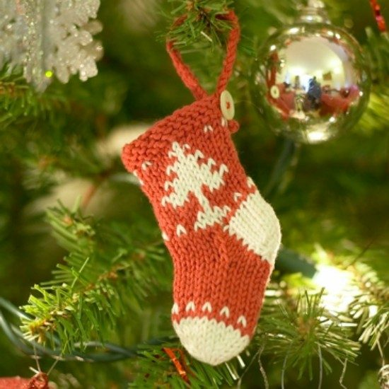 Deck The Halls With These Mini Knitted Christmas Socks Patterns